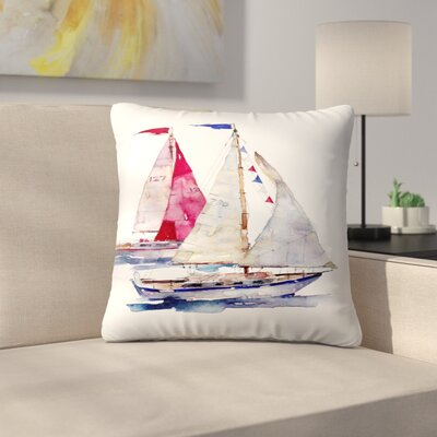 2 Yachts Throw Pillow Size: 20 x 20