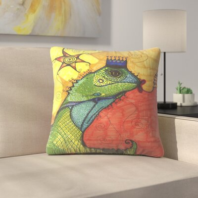 Lizard 1 Throw Pillow Size: 14 x 14