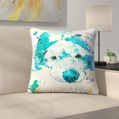 Labrador Retriever Throw Pillow Size: 14 x 14