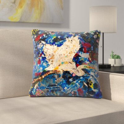 Sunshine Taylor Egret Indoor/Outdoor Throw Pillow Size: 18 x 18