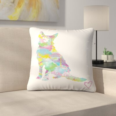 German Shepherd Throw Pillow Size: 16 x 16
