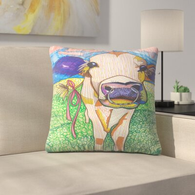 Sweet Cow with Ring Sigrid Throw Pillow Size: 16 x 16