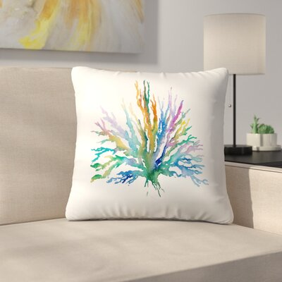 Coral Throw Pillow Size: 16 x 16