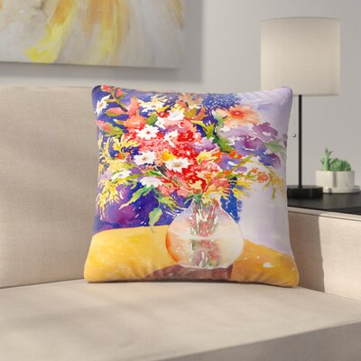 Sunshine Taylor Bursting Forth Indoor/Outdoor Throw Pillow Size: 14 x 14