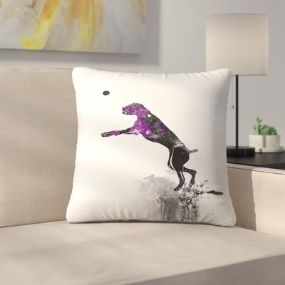 Boxer Silhouette Throw Pillow Size: 14 x 14