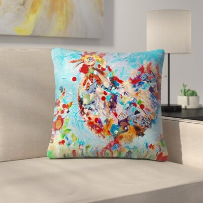 Sunshine Taylor Rooster 3 Indoor/Outdoor Throw Pillow Size: 18 x 18