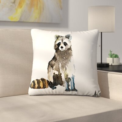 Raccoon Throw Pillow Size: 16 x 16