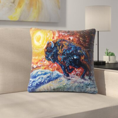 Olena Art Wild the Storm Throw Pillow Size: 18 x 18