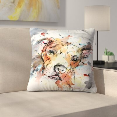 Colorful Dog Throw Pillow Size: 14 x 14