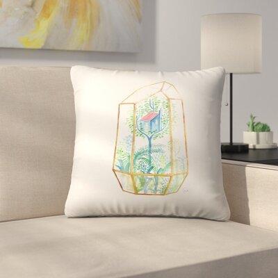 Terrarium Throw Pillow Size: 18 x 18
