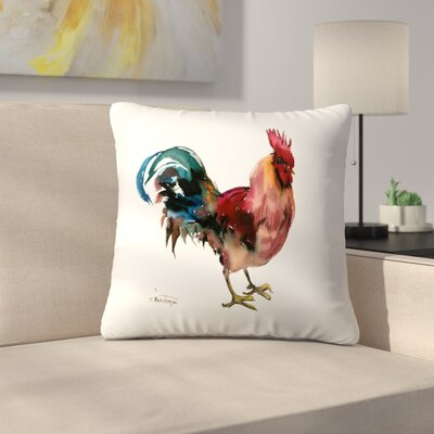 Rooster Throw Pillow Size: 14 x 14