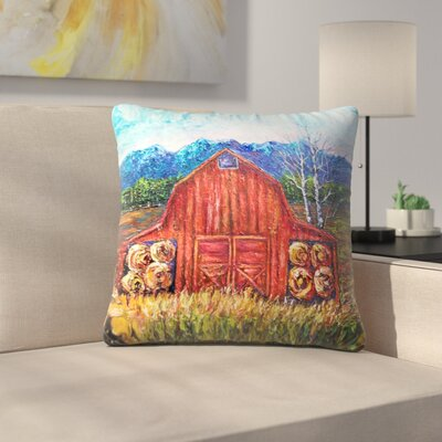 Olena Art Barn Tiff Throw Pillow Size: 20 x 20