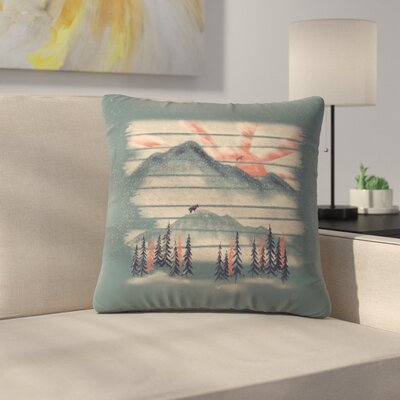 Mountain Goat Drifter Throw Pillow Size: 14 x 14
