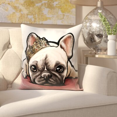 Solomon The Royal Frenchie Throw Pillow