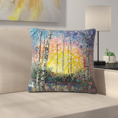 Olena Art Morning Breaks Throw Pillow Size: 16 x 16