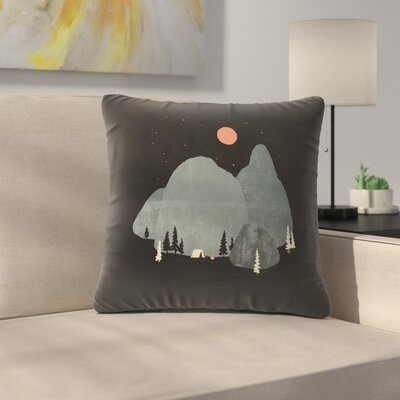 Last Night At Big Rock Throw Pillow Size: 16 x 16