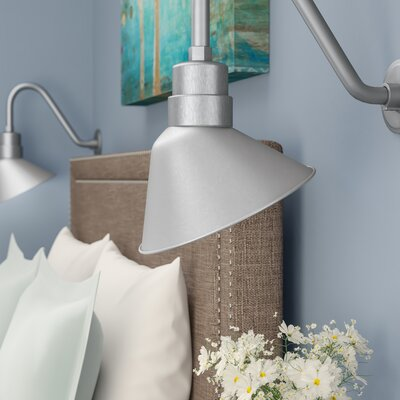 Fitzhugh 10 Metal Empire Wall Sconce Shade Finish: Galvanized