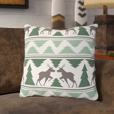 Kuehl Winter Forest Throw Pillow Size: 16 x 16