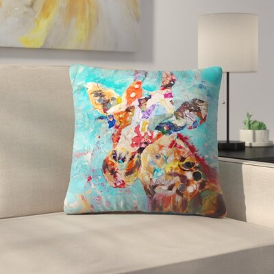 Sunshine Taylor Giraffe Indoor/Outdoor Throw Pillow Size: 14 x 14