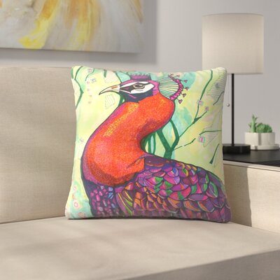 Belinda Peacock Throw Pillow Size: 14 x 14