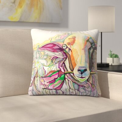 Easter Lamb Throw Pillow Size: 16 x 16