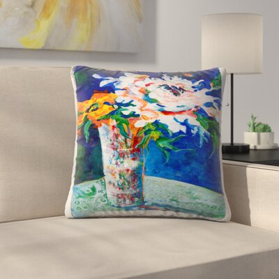 Sunshine Taylor Flowerpower II Indoor/Outdoor Throw Pillow Size: 14 x 14
