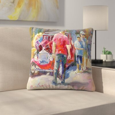 Golden Hotrods Throw Pillow Size: 14 x 14