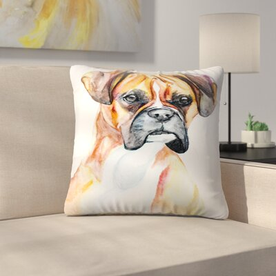 Fawn Boxer Throw Pillow Size: 16 x 16