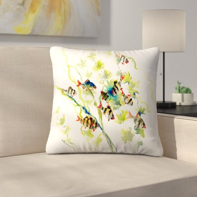 Tiger Barb Throw Pillow Size: 20 x 20
