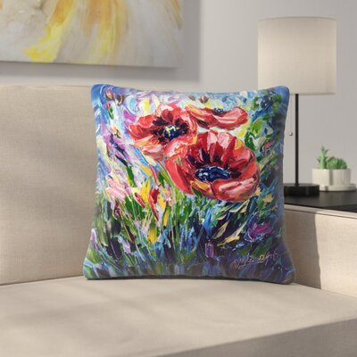 Olena Art Poppies Throw Pillow Size: 20 x 20