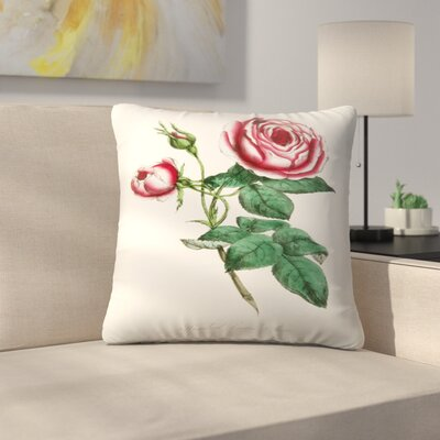 American Flora Rose Throw Pillow Size: 18 x 18