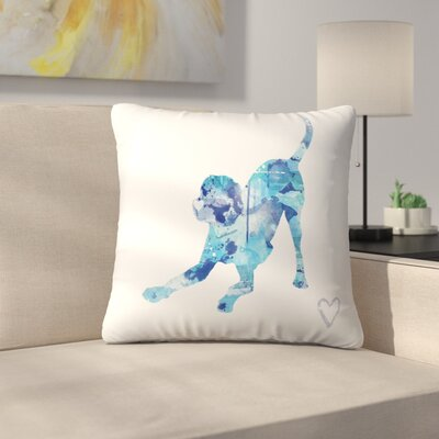 Playful Lab Throw Pillow Size: 20 x 20