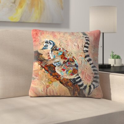 Sunshine Taylor Lemur Indoor/Outdoor Throw Pillow Size: 16 x 16