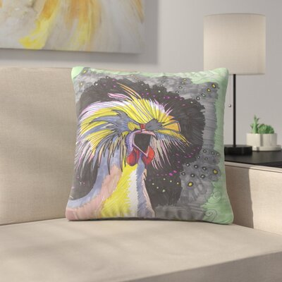 Screaming Chicken Throw Pillow Size: 20 x 20