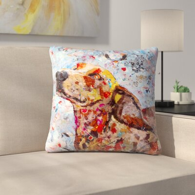 Sunshine Taylor Dog Indoor/Outdoor Throw Pillow Size: 16