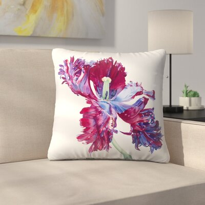 Parrot Tulip No 3 Throw Pillow Size: 14 x 14