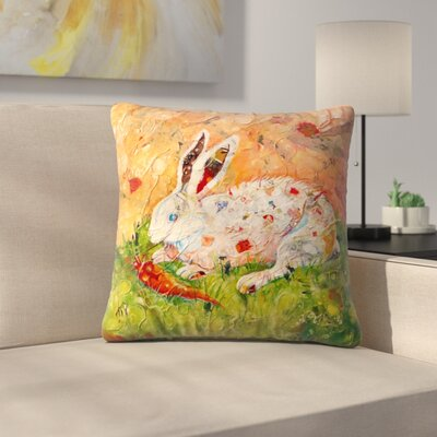 Sunshine Taylor Bunny Indoor/Outdoor Throw Pillow Size: 20 x 20