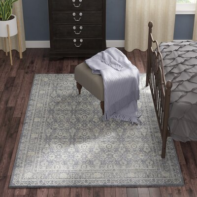 Adelbert Gray Area Rug� Rug Size: Rectangle 53 x 76
