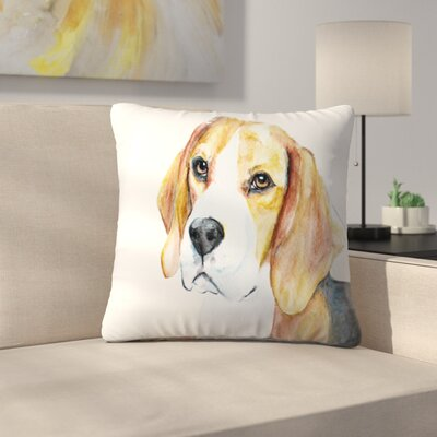 Beagle Throw Pillow Size: 16 x 16