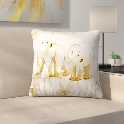 Polar Bears Throw Pillow Size: 18 x 18