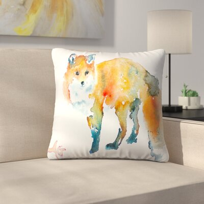 Fox Throw Pillow Size: 16 x 16