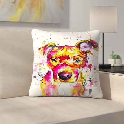 Puppy Throw Pillow Size: 16 x 16