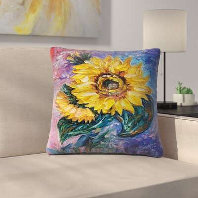 Olena Art That Sunflower from the Sunflower State Throw Pillow Size: 18 x 18