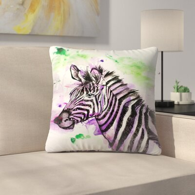 Zebra Throw Pillow Size: 16 x 16