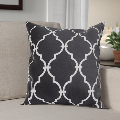 Reuter Trellis Throw Pillow Size: 16 H x 16 W, Color: Black