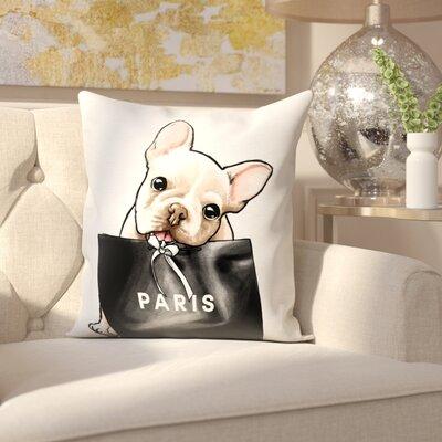 Woodward Frenchie Glam Paris Throw Pillow