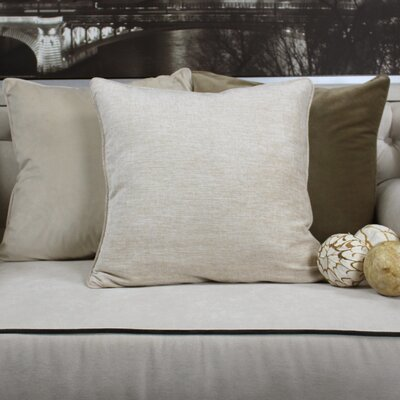 Gains Homey Cozy Cotton Pillow Cover Color: Beige