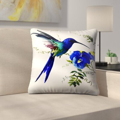 Hummingbird 2 Throw Pillow Size: 16 x 16