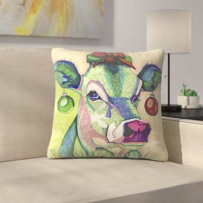 Cow Throw Pillow Size: 18 x 18
