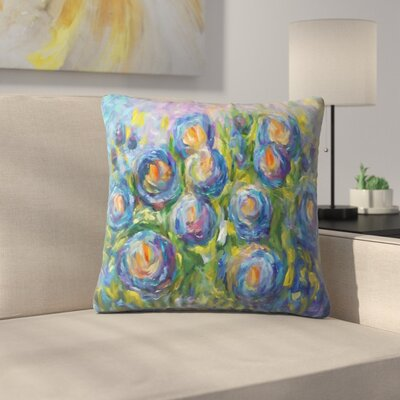Olena Art Roses Throw Pillow Size: 16 x 16